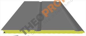Πάνελ πολυουρεθάνης πλαγιοκάλυψης - διαμόρφωση linea - Theoprofil.com