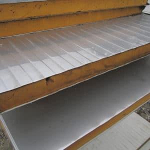 Πάνελ πλαγιοκάλυψης φανερής στήριξης - πάχους 12cm - inox/inox - β'διαλογής - Theoprofil.com