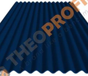 Κυματοειδής λαμαρίνα RAL 5017 - Theoprofil.com