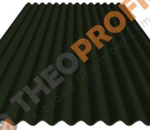 Λαμαρίνα κυματοειδής πάχους 0,50mm σε χρώμα RAL 6020 - Theoprofil.com