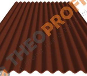 Λαμαρίνα κυματοειδής πάχους 0,50mm σε χρώμα RAL 8004 - Theoprofil.com