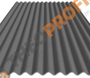 Λαμαρίνα κυματοειδής πάχους 0,50mm σε χρώμα RAl 9006 - Theoprofil.com