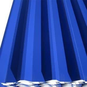 Λαμαρίνα τραπεζοειδής σε χρώμα RAL 5002 - Theoprofil.com