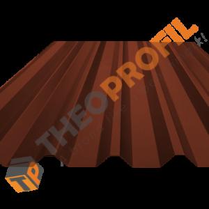 Λαμαρίνα τραπεζοειδής 8 κορυφών RAL 8004 με υφή κεραμιδιού - Theoprofil.com