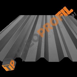 Λαμαρίνα τραπεζοειδής 8 κορυφών σε χρώμα RAL 9006 - Theoprofil.com