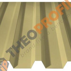 Λαμαρίνα τραπεζοειδής 5 κορυφών νέου τύπου σε χρώμα RAL 1015 - Theoprofil.com