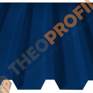 Λαμαρίνα τραπεζοειδής 5 κορυφών νέου τύπου σε χρώμα RAL 5017 - Theoprofil.com