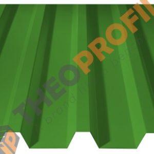 Λαμαρίνα τραπεζοειδής 5 κορυφών νέου τύπου σε χρώμα RAL 6018 - Theoprofil.com