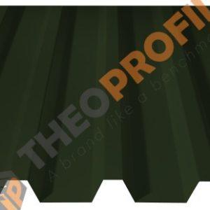 Λαμαρίνα τραπεζοειδής 5 Κορυφών νέου τύπου σε χρώμα RAL 6020 - Theoprofil.com