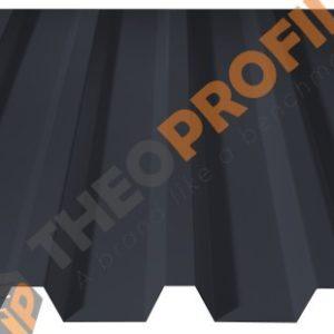 Λαμαρίνα τραπεζοειδής 5 Κορυφών νέου τύπου σε χρώμα RAL 7015 - Theoprofil.com