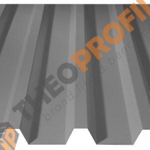 Λαμαρίνα τραπεζοειδής 5 Κορυφών Νέου Τύπου σε χρώμα RAL 9006 - Theoprofil.com