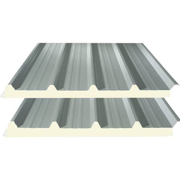 Πάνελ οροφής τραπεζοειδές χρώμα RAL9002 - Theoprofil.com