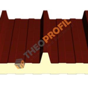 Πάνελ οροφής τραπεζοειδές - πάχους 5cm - χρώμα RAL 3013 - Πάνελ Πολυουρεθάνης Οροφής - Πρώτης ποιότητας και Β΄ διαλογής - Theoprofil.com